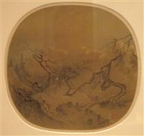 Gentleman in a Garden (traditionally attributed to Ma Yuan) - Ma Yuan