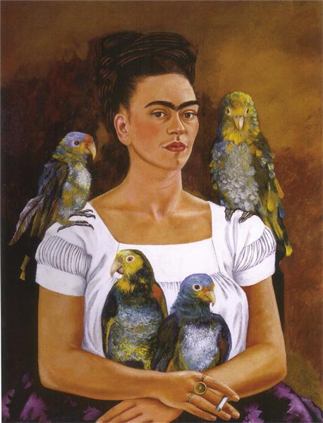 Me and My Parrots, 1941 - Frida Kahlo
