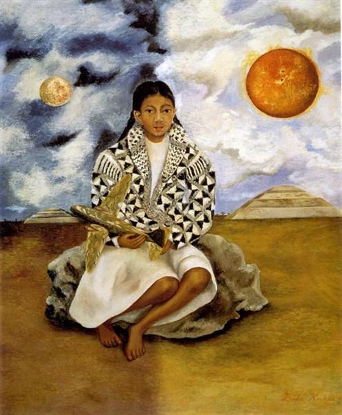 Portrait of Lucha Maria, A Girl from Tehuacan, 1942 - Frida Kahlo