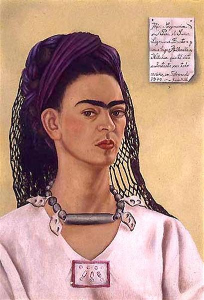 Self Portrait Dedicated to Sigmund Firestone, 1940 - Frida Kahlo