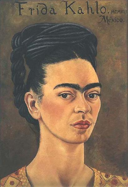 Self-Portrait in Red and Gold Dress, 1941 - Frida Kahlo