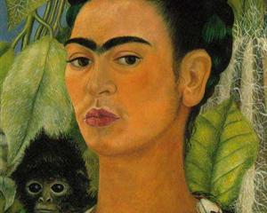 Self Portrait with a Monkey - Frida Kahlo