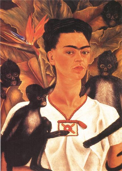 Self Portrait with Monkeys, 1943 - Frida Kahlo