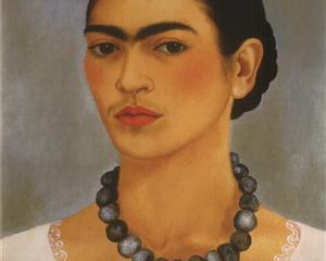 Self Portrait with Necklace - Frida Kahlo