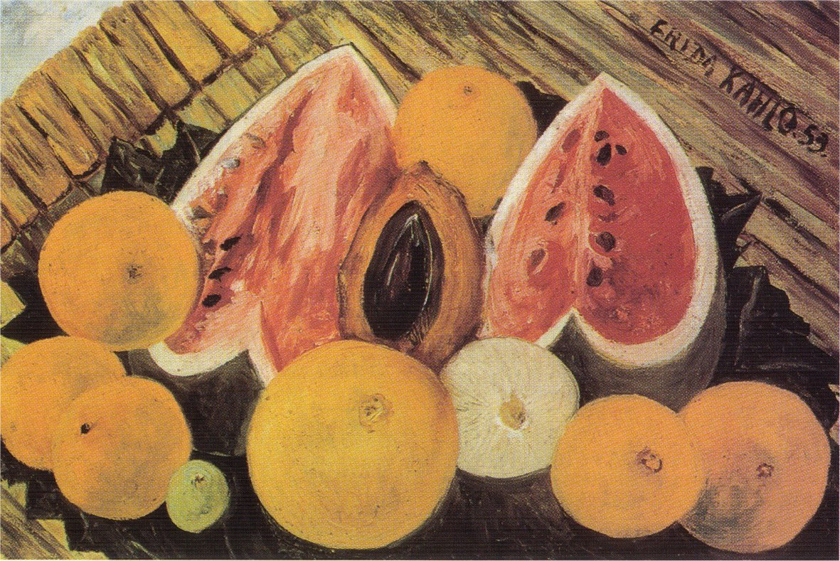 Still Life with WatermelonsFrida Kahlo Famous Paintings Still Life