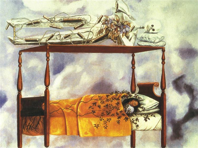 The Dream (The Bed), 1940 - Frida Kahlo