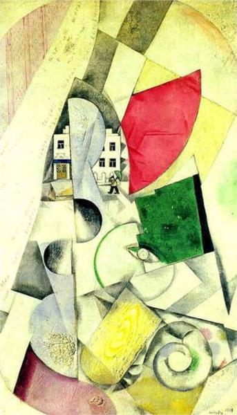 Cubist landscape, 1918 - Marc Chagall
