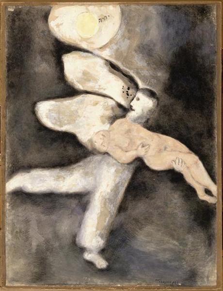 God creates Man, c.1931 - Marc Chagall