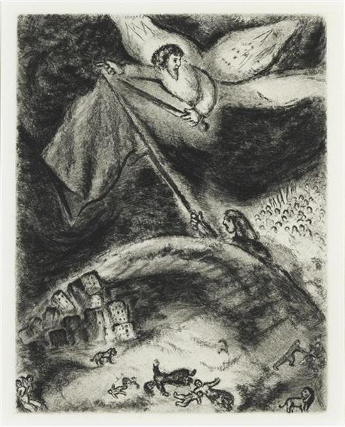 Isaiah's oracle on the ruins of Babylon (Isaiah XIII), c.1956 - Marc Chagall