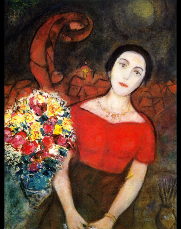 Portrait of vava marc chagall for Biographie de marc chagall