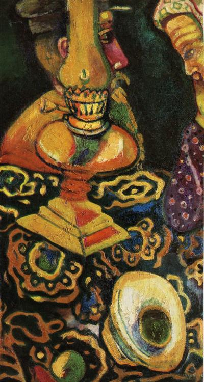 Still Life with Lamp - Marc Chagall - WikiArt.org - encyclopedia of ...