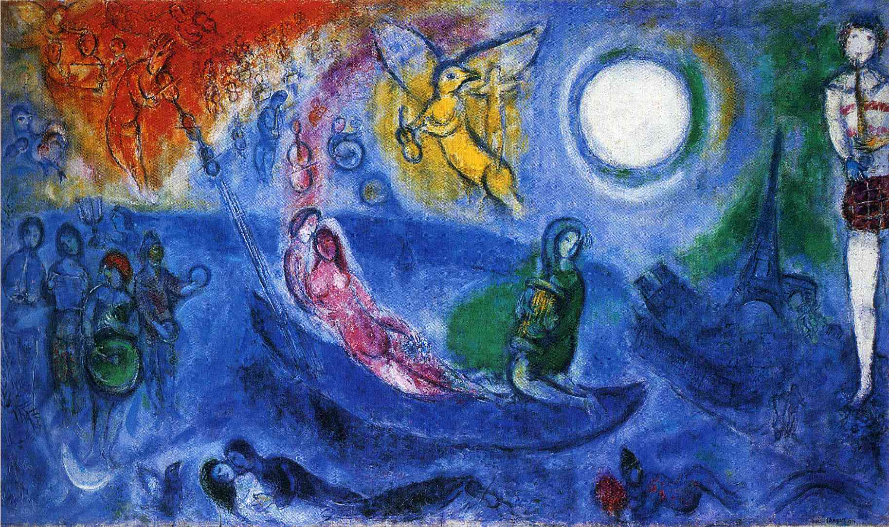 the concert 1957 marc chagall. Black Bedroom Furniture Sets. Home Design Ideas