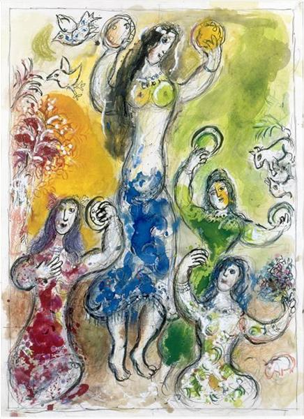 The dance of Myriam, 1966 - Marc Chagall