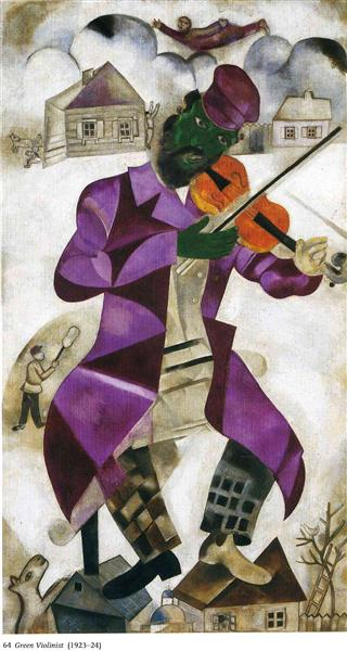 The Green Violinist, 1923 - 1924 - Marc Chagall