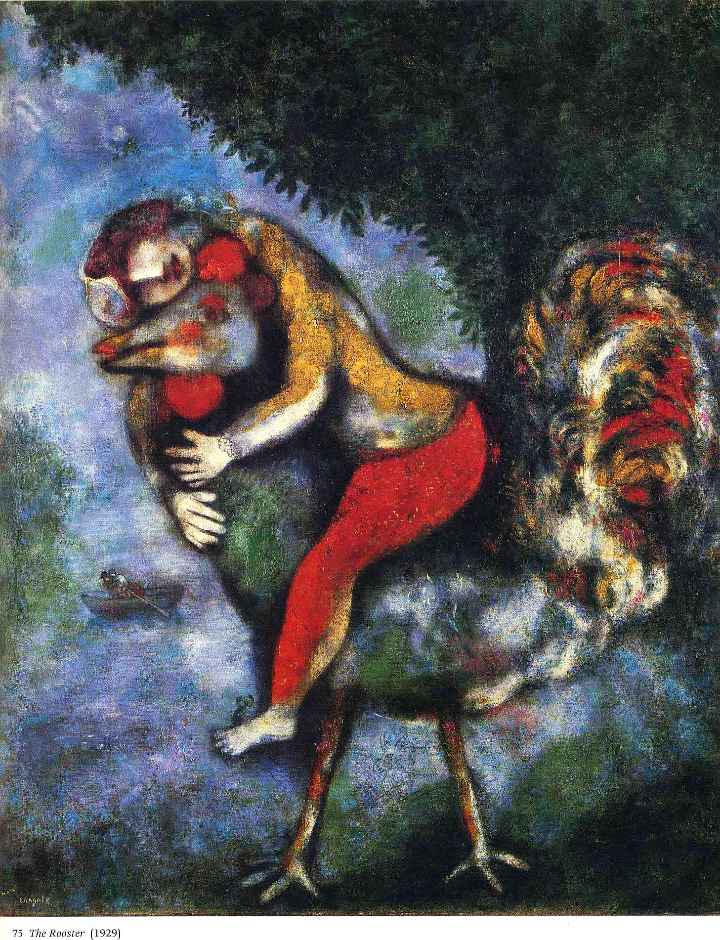 The rooster 1929 marc chagall for Chagall tableau