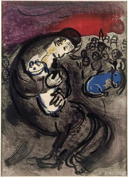 Weeping of Jeremiah, 1956 - Marc Chagall