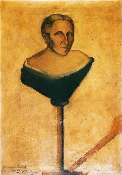 Portrait of Gustave Candel's Mother, 1912 - Marcel Duchamp