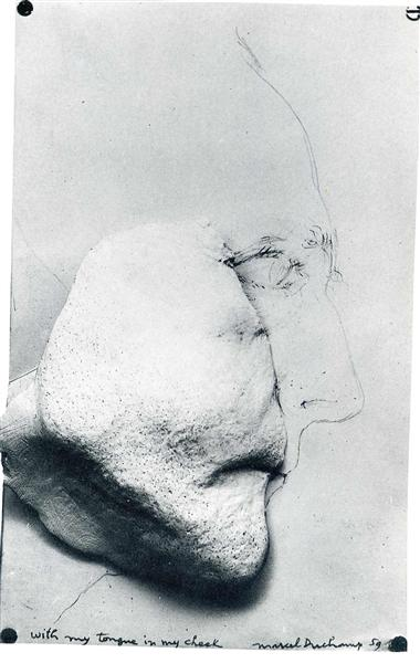With My Tongue in My Cheek, 1959 - Marcel Duchamp