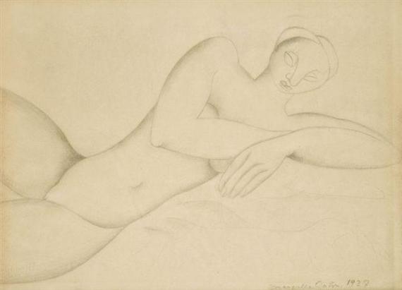 Nu Allonge, 1927 - Marcelle Cahn