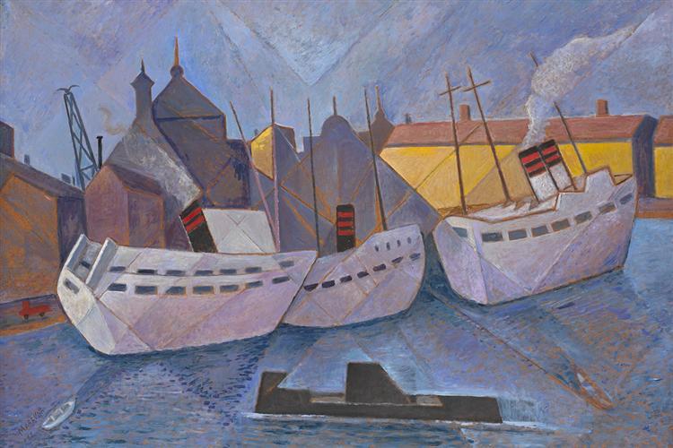 Port of Stockholm, 1962 - Marevna (Marie Vorobieff)