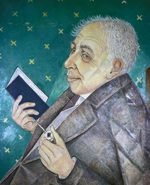 Portrait of Ilya Ehrenburg, 1956 - Marevna (Marie Vorobieff)