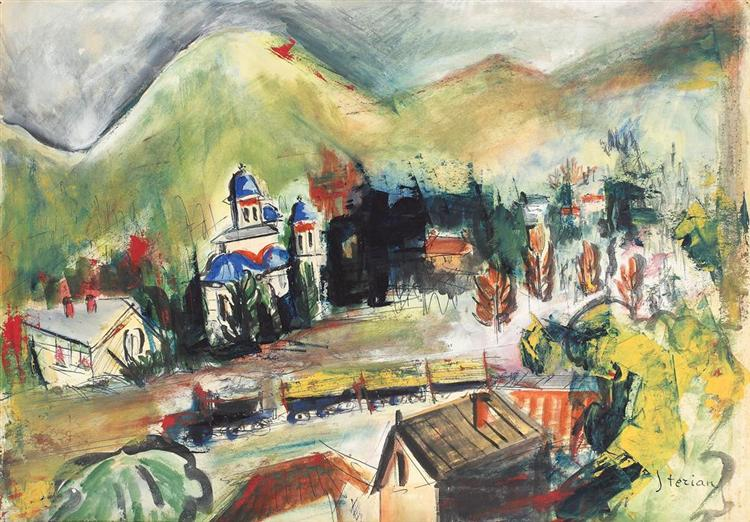 Landscape in Ţapului - Margareta Sterian