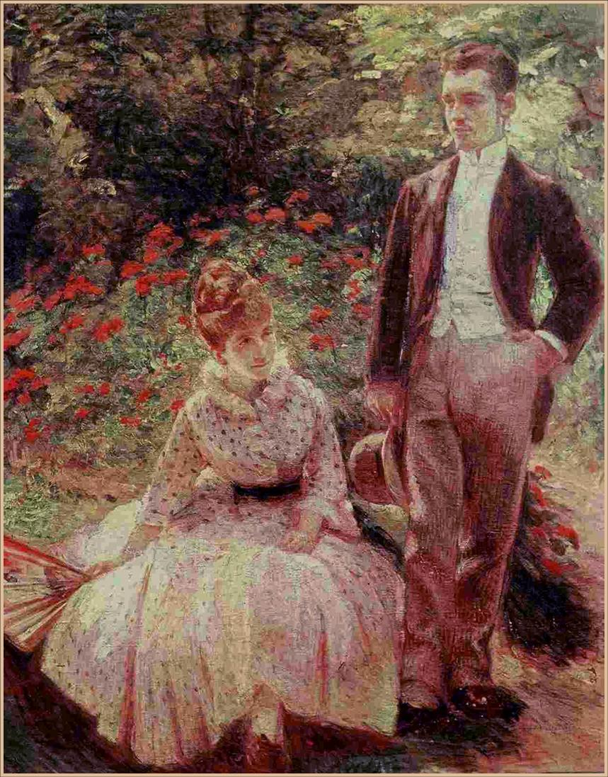 The Artist's Son and Sister in the Garden at Sevres, 1890