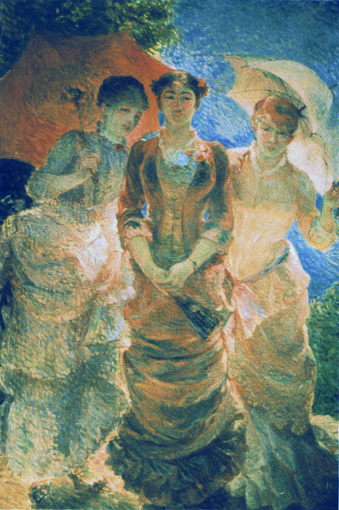 Three ladies with parasol (aka Three Graces), 1880