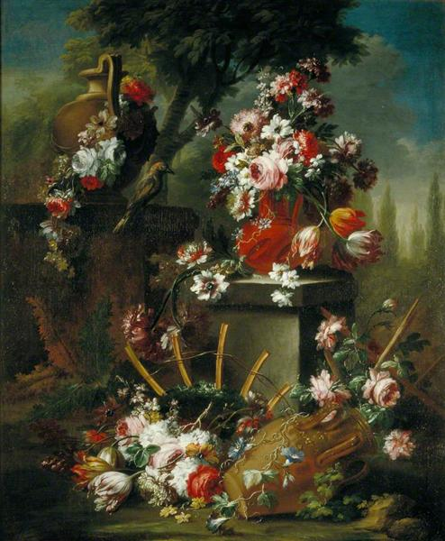 Vase and Flowers - Маріо Де Фьйорі