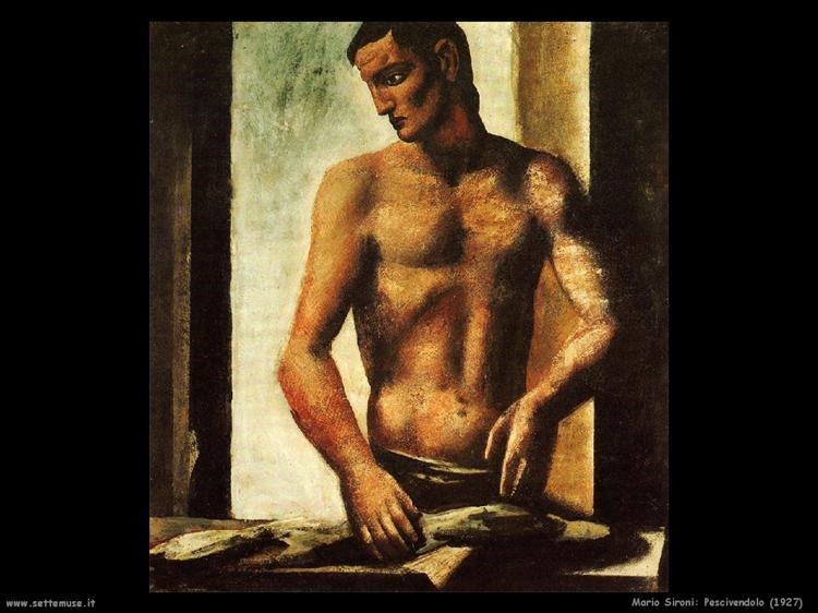 Fishmonger, 1927 - Mario Sironi