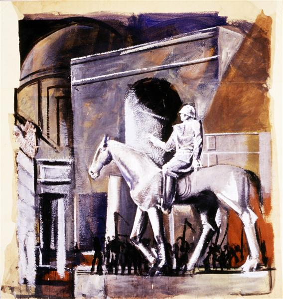 Leader on Horseback, 1934 - 1935 - Mario Sironi