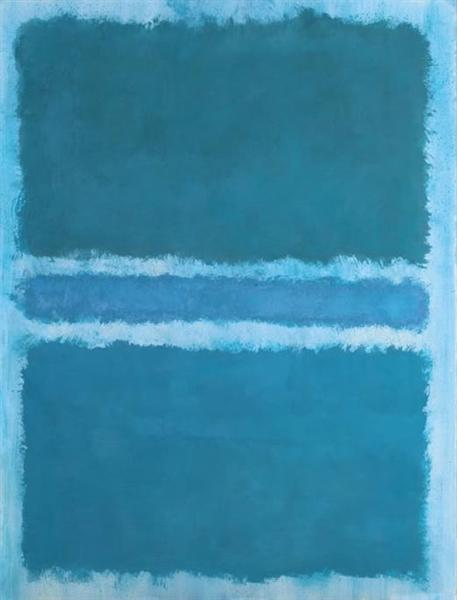 Untitled (Blue Divided by Blue), 1966 - Mark Rothko