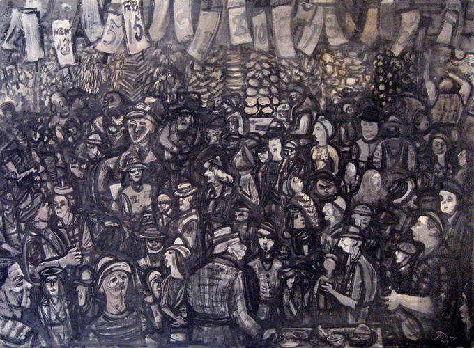 Untitled from Market Series - Mark Tobey