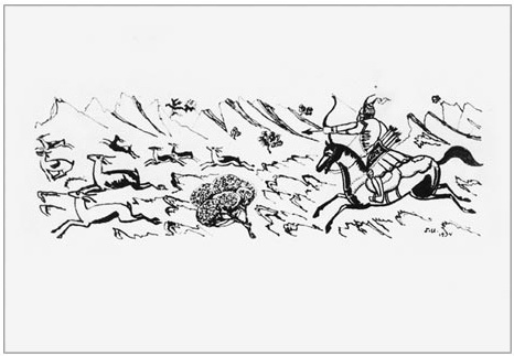Illustration to a poem by Firdausi 'Shahnameh', 1934 - Martiros Sarian