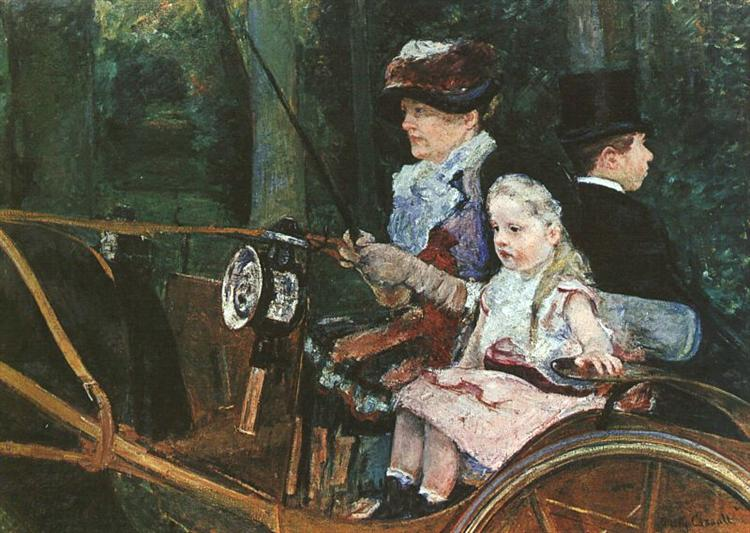 A woman and child in the driving seat, 1881 - Mary Cassatt