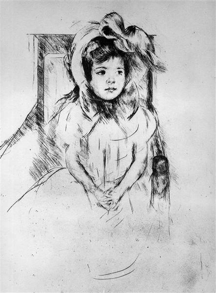 Little girl with cap Sun - Mary Cassatt