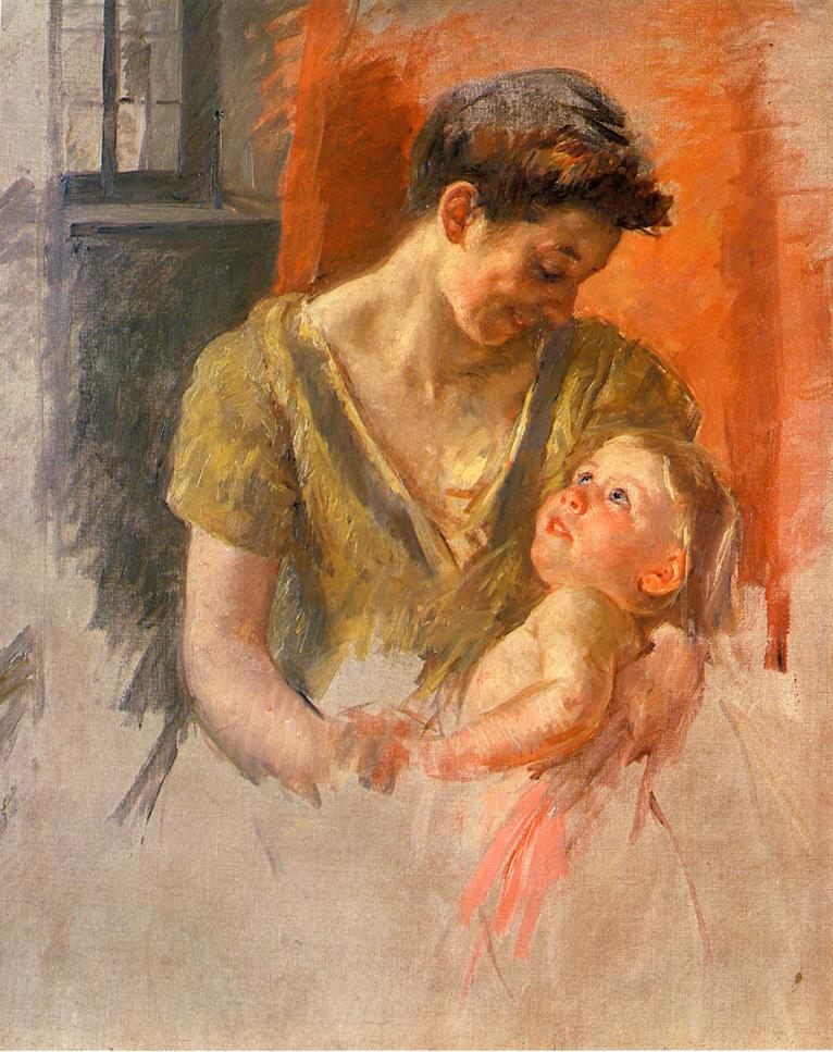 Mother and Child Smiling at Each Other, 1908 - Mary ...