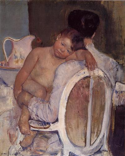 Mother Holding a Child in Her arms - Mary Cassatt