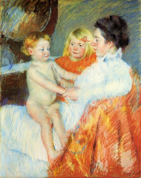 Mother Sara and the Baby, c.1901 - Mary Cassatt