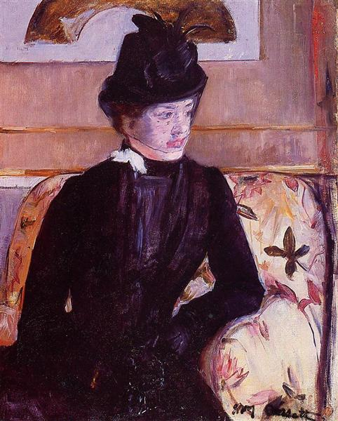 Mrs. Gardner Cassatt in Black, 1880 - Mary Cassatt