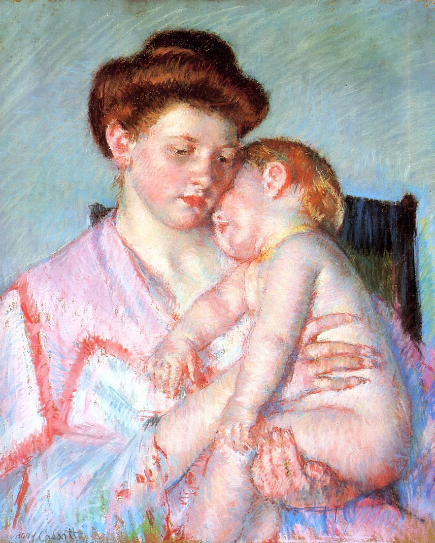 Sleepy Baby, 1910 - Mary Cassatt - WikiArt.org