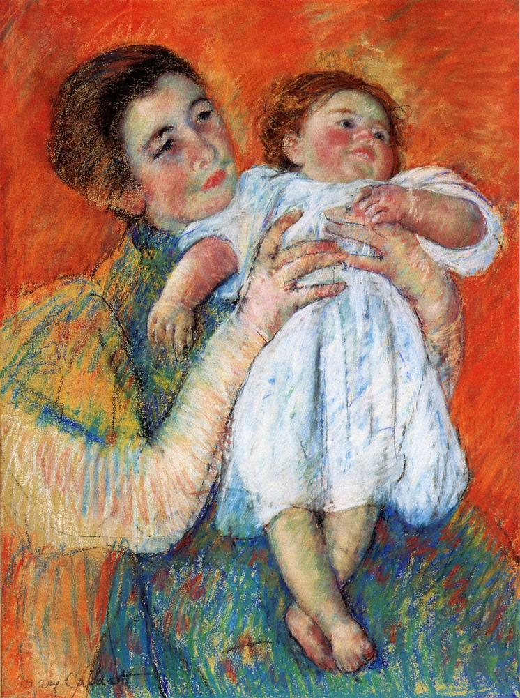 The Barefoot Child, 1897 - Mary Cassatt - WikiArt.org