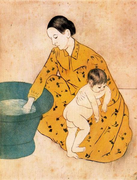The Child's Bath, 1893 - 玛丽·卡萨特