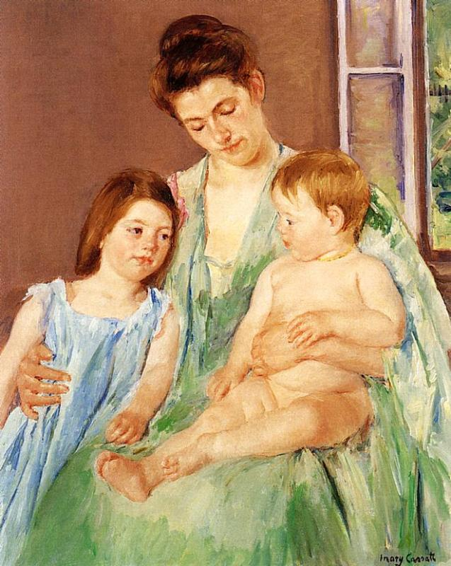 Young Mother and Two Children - Mary Cassatt - WikiArt.org ...