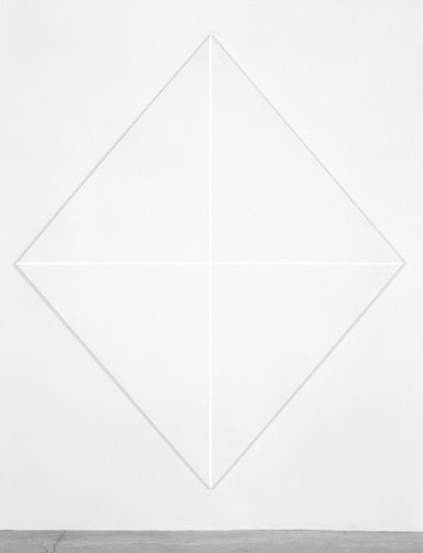 Untitled (White Diamond), 1965 - Mary Corse