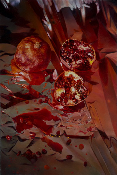 Threads of Scarlet, Pieces of Pomegranate, 2005 - Mary Pratt
