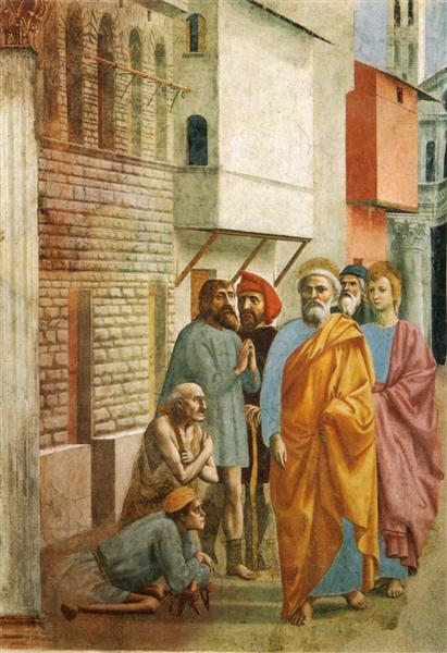 St.Peter Healing the Sick with His Shadow, 1424 - 1425 - Мазаччо