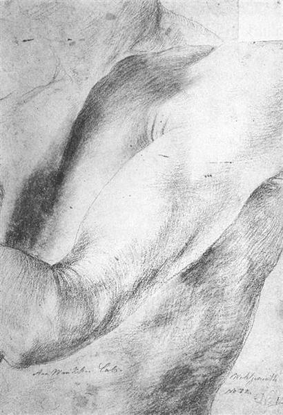 Upper arm Study, 1512 - 1514 - Matthias Grünewald
