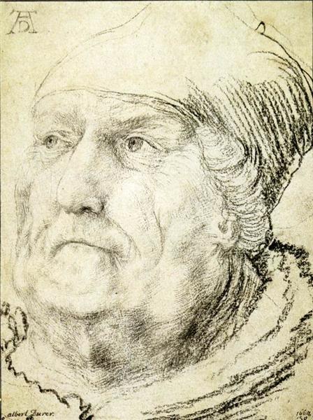 Head of an Old Man, c.1525 - Matthias Grünewald