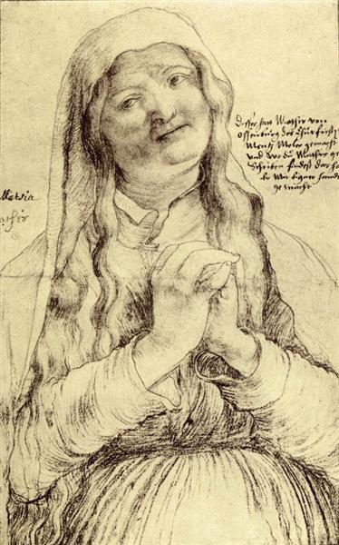 Praying Woman, 1512 - 1514 - Matthias Grünewald